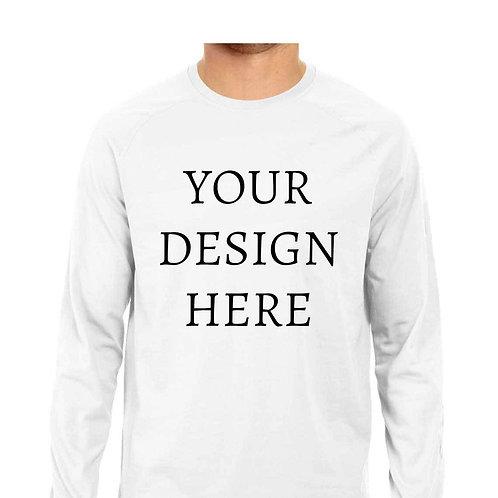 Men's Personalised White Full Sleeve T-Shirt