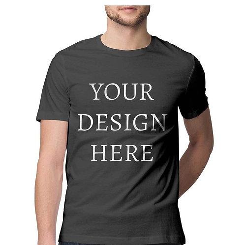 Men's Personalised Charcoal Grey Half Sleeve T-Shirt