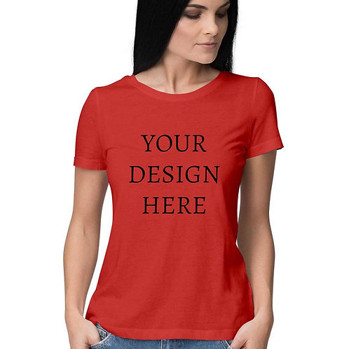 Women's Personalised Red T-Shirt