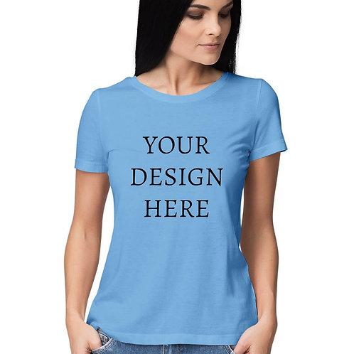 Women's Personalised Sky Blue T-Shirt