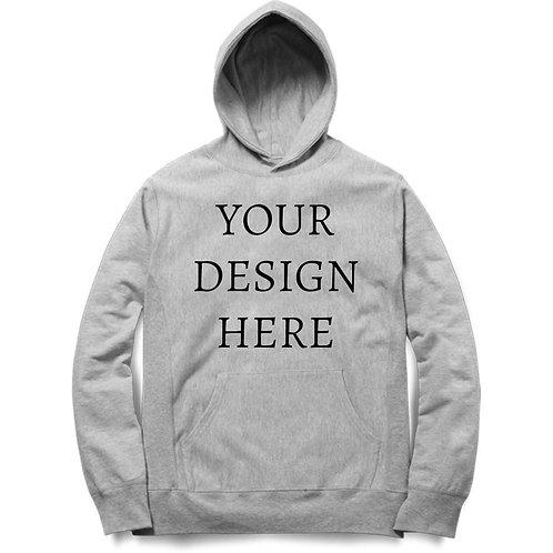 Personalised Melange Grey Hoodie