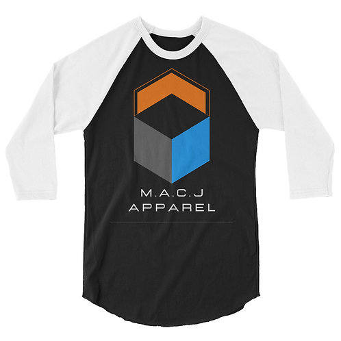 M.A.C.J Apparel Unisex 3/4 sleeve raglan shirt (Inverted)
