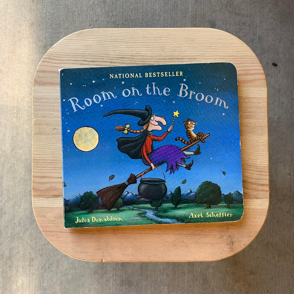 room on the broom, board, book