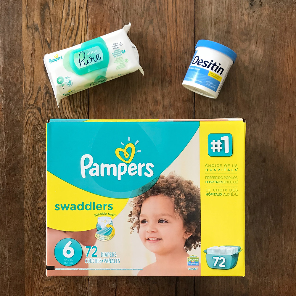 diapers, diaper, pampers, pampers swaddlers, swaddlers, wipes, desitin, diaper cream