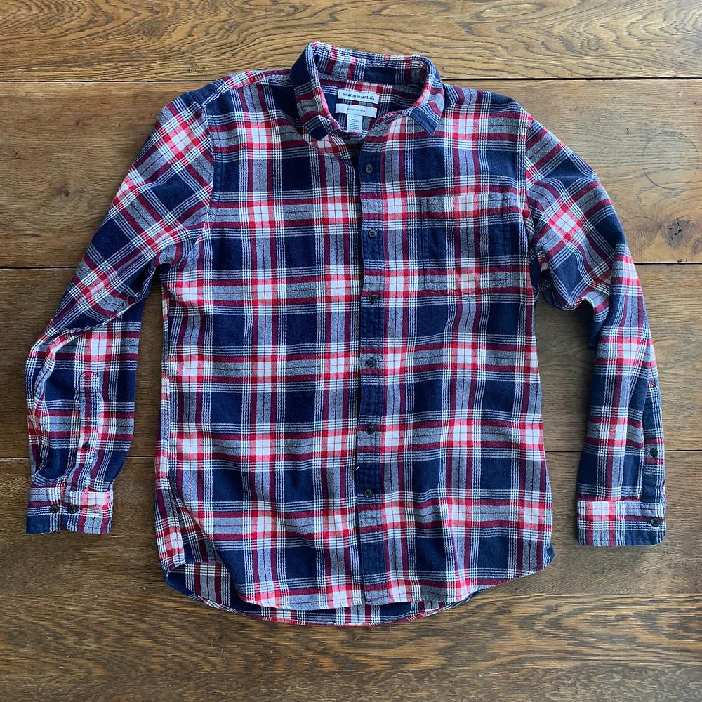 red, white, blue, shirt, flannel, men, mens, long, sleeve, amazon, blog, fashion