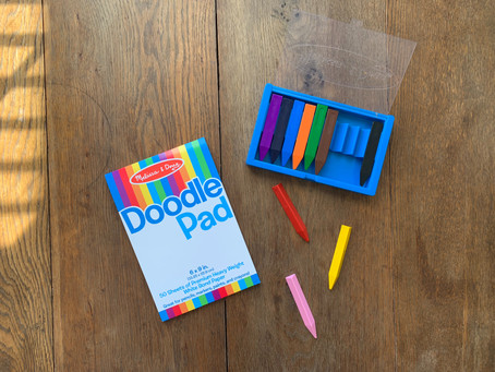 Favorite Art Supply for Kids: Chunky Triangular Crayons by Melissa & Doug