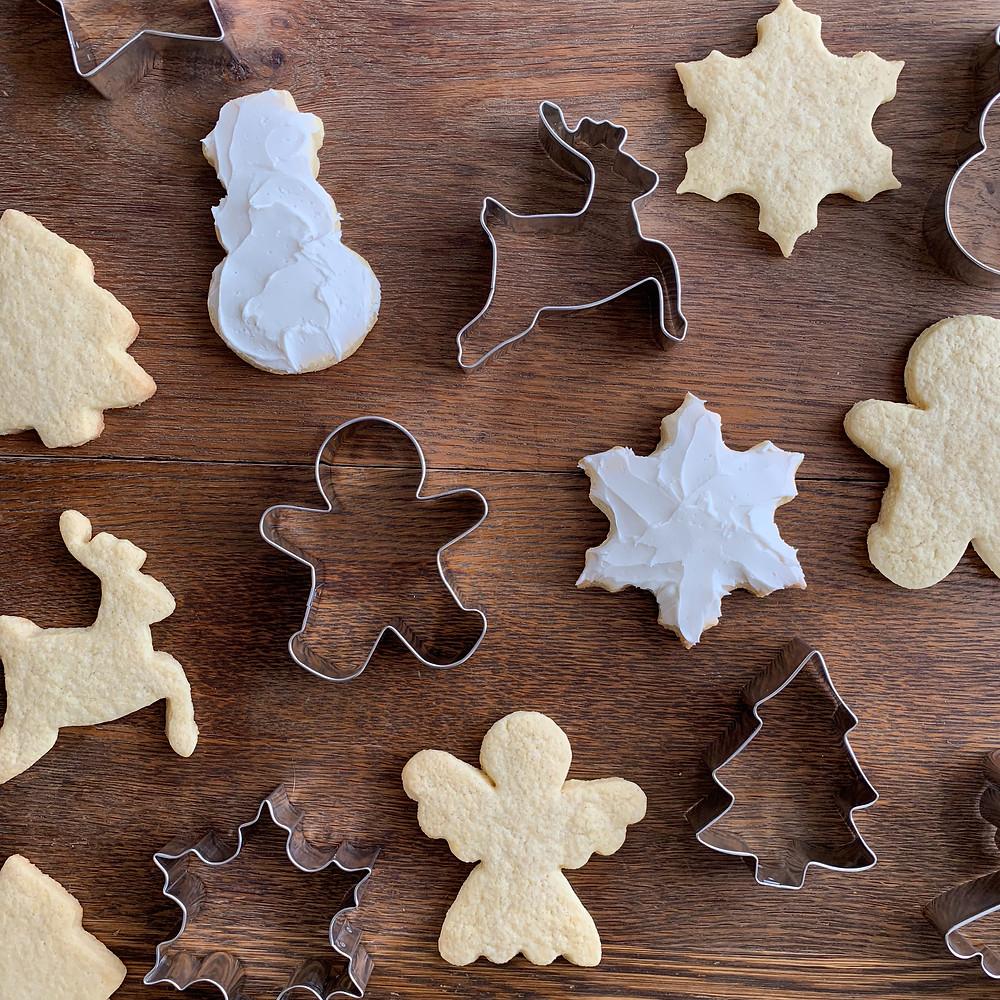 Miss Jones, cookie cutters, Ann Clark, sugar cookies, Christmas