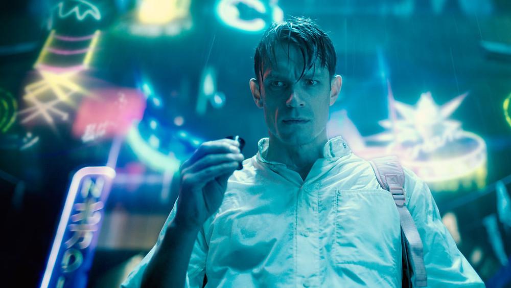 Joel Kinnaman as Takeshi Kovacs, Altered Carbon on Netflix