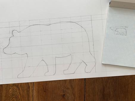 Bear Pillow Project Box Work in Progress