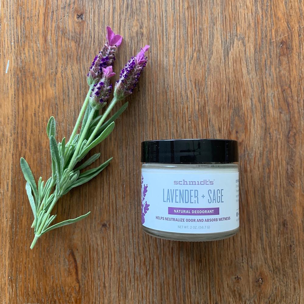 schmidt, deodorant, no aluminum, aluminum free, antiperspirant, lavender, sage