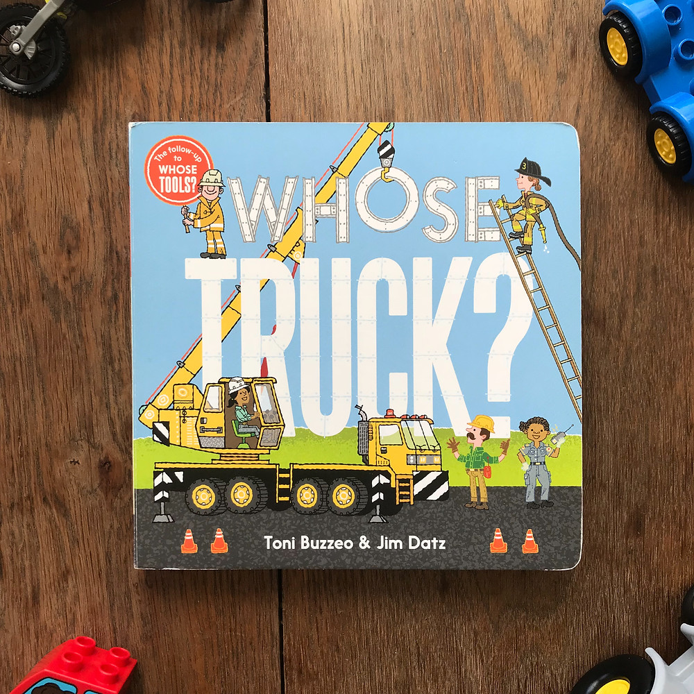 whose truck, board, book