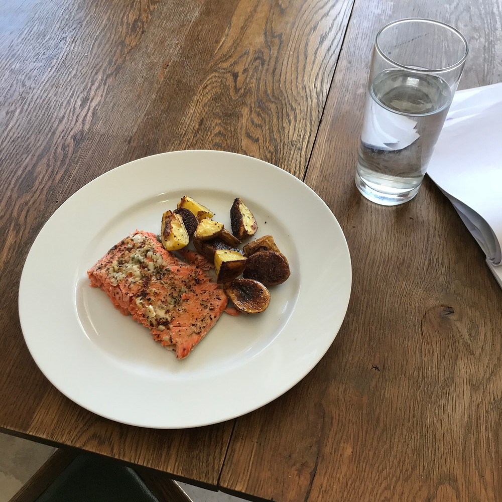 Baked Salmon with Garlic Butter and Roasted Potatoes, Easy Recipe, Salmon, Potatoes, Favorite Recipe
