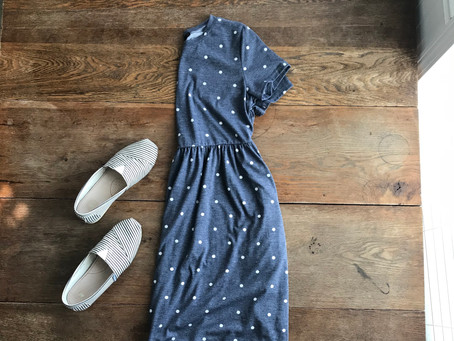 Amazon Fashion Find: Polka Dot Dress and Canvas Shoes