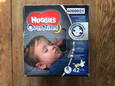 Huggies OverNites: To Prevent Overnight Leaks