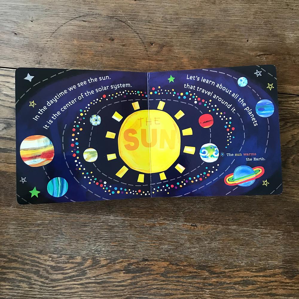 solar system, board, book