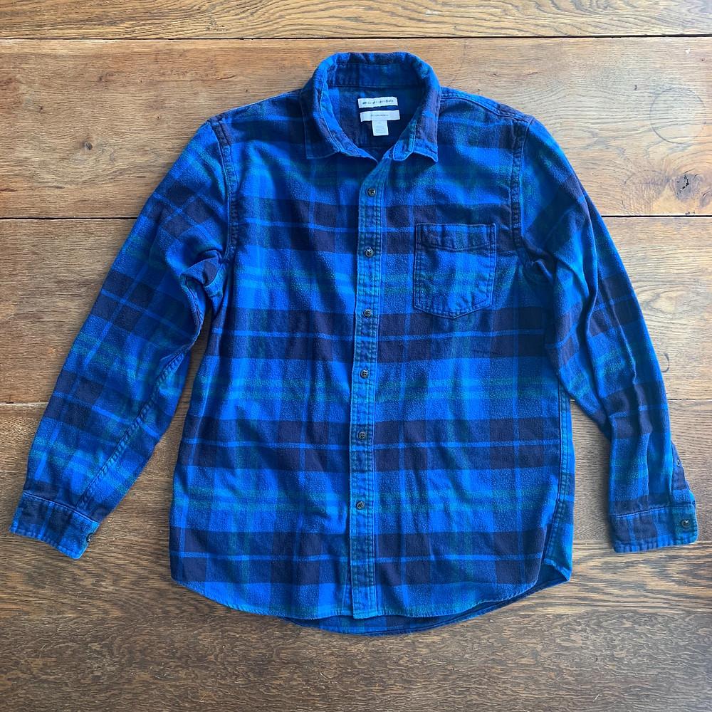 shirt, blue, flannel, men, mens, long, sleeve, fashion, amazon