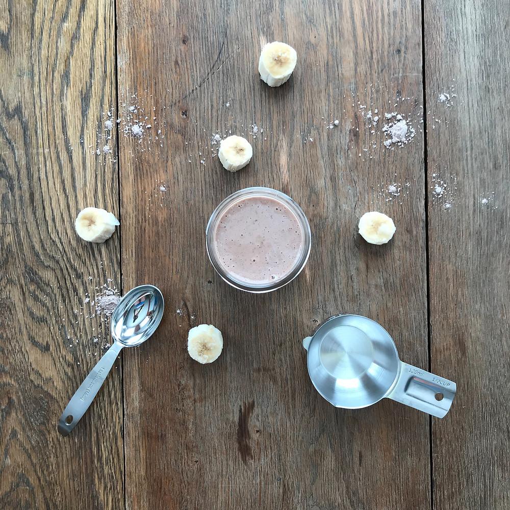 banana, chocolate, smoothie, protein, shake, wingleader, blog