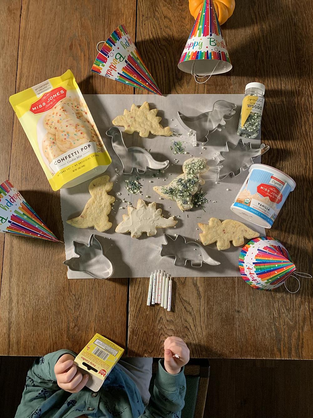 cookies, sugar cookie, miss jones, ann clark, cookie cutters, sprinkles, toddler, birthday, dinosaurs, miss jones, ann clark, icing, birthdays, dinosaur, toddlers