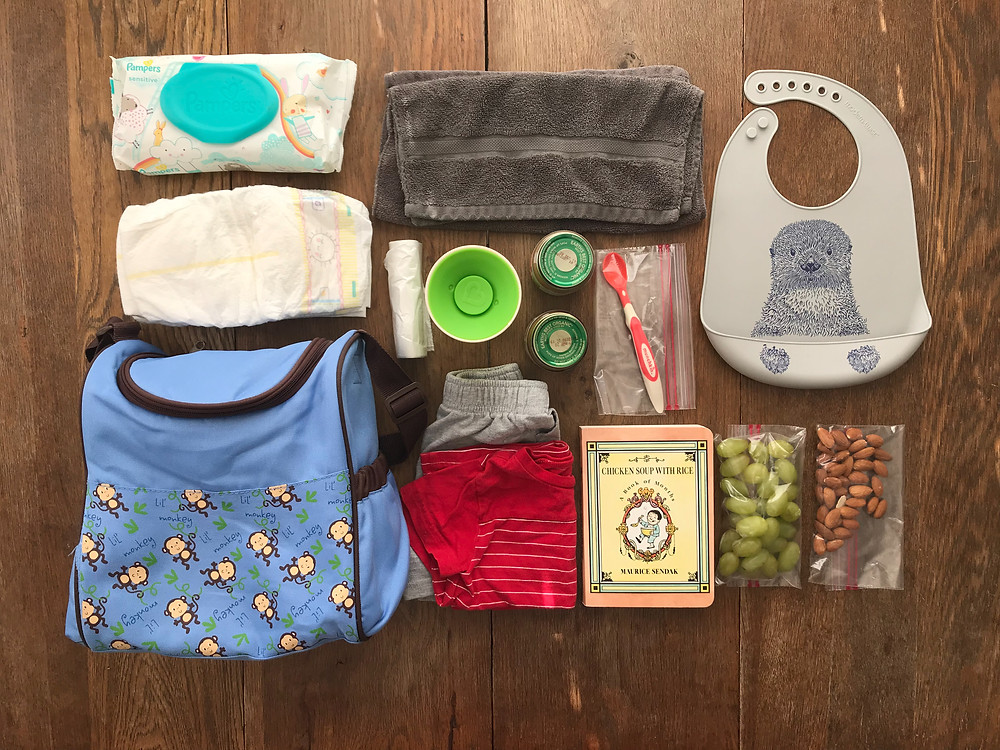 Mini diaper bag, what to pack diaper bag, mom advice