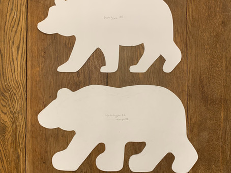 Bear Pillow Project Box Progress