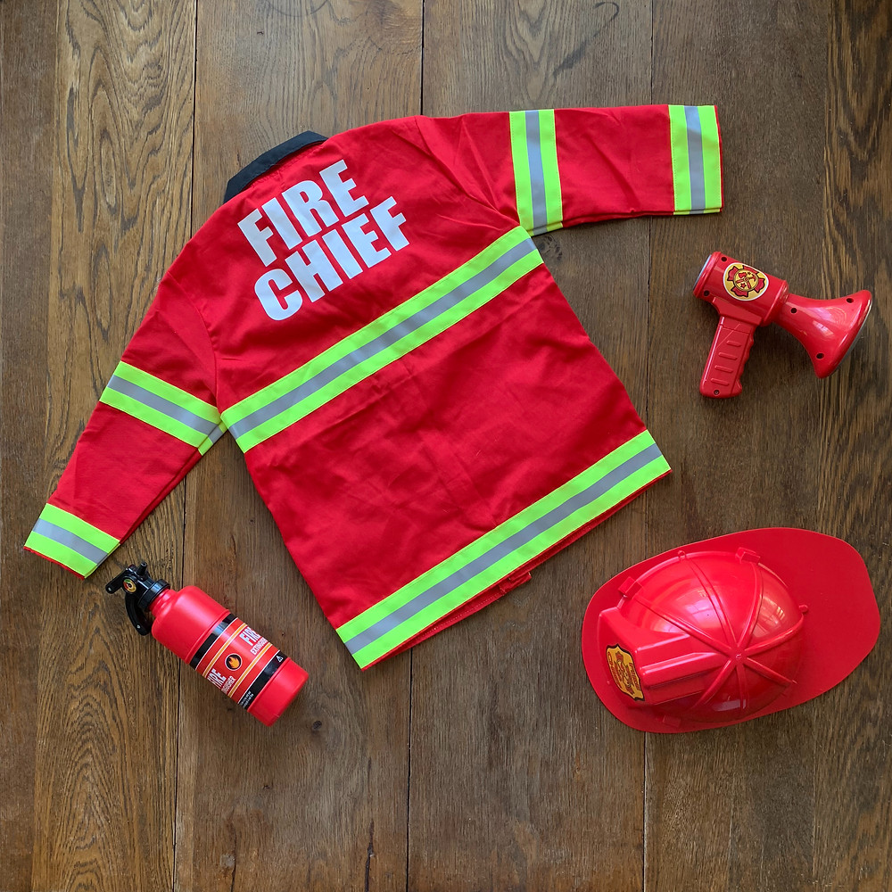 fire fighter costume, toddler, costume, halloween