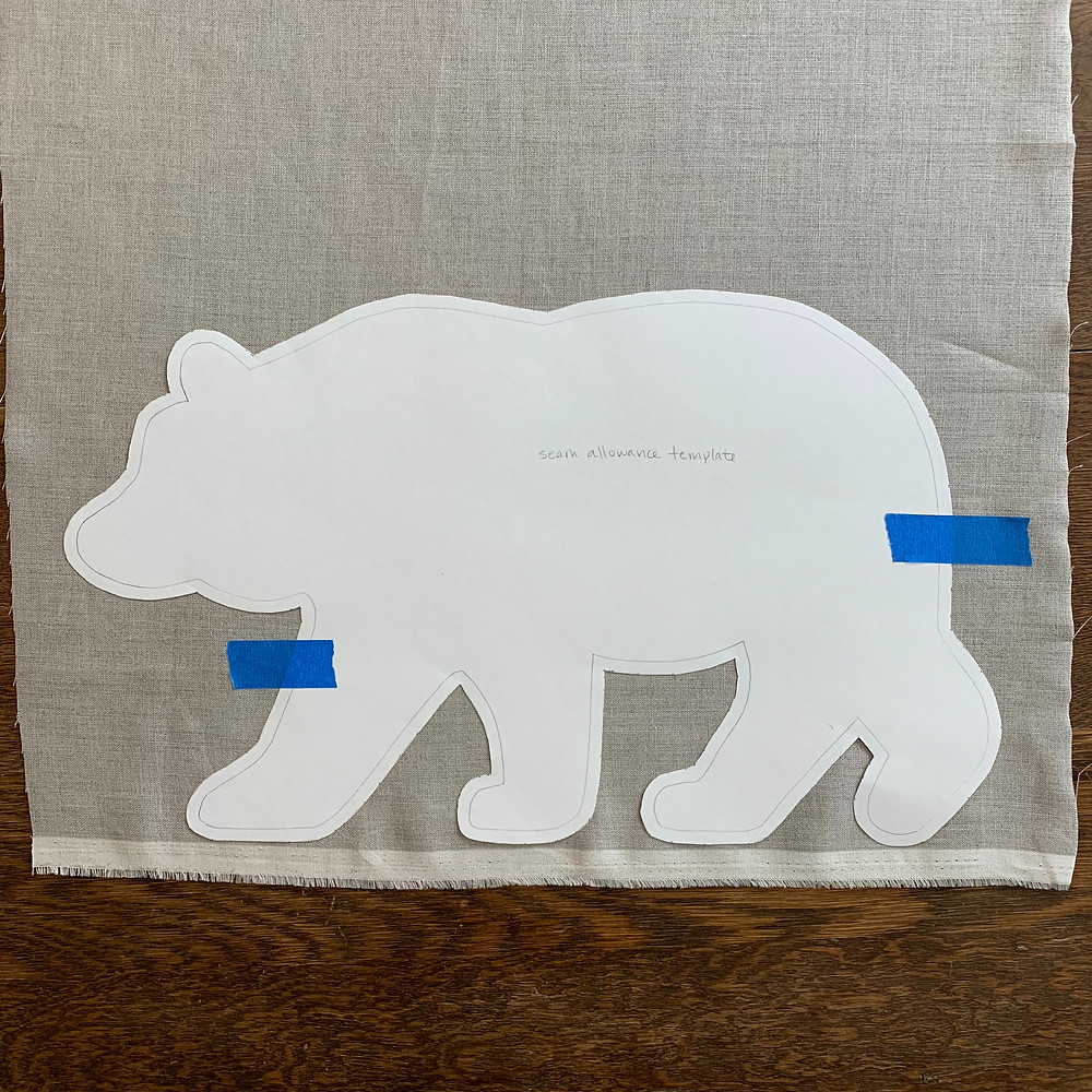 bear, pillow, seam, allowance, template, project, box, wing, leader, blog