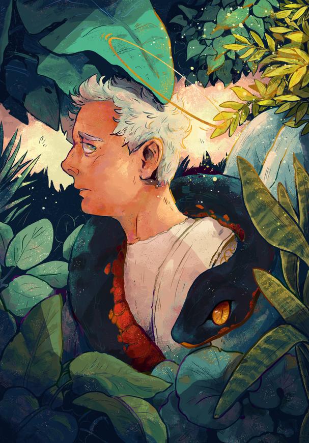 Aziraphale in Eden