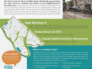 DDOT is Conducting a Livability Covering ANC 3D and Encourages Community Participation at Public Mee