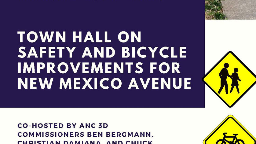 Town Hall on Safety and Bicycle Improvements for New Mexico Avenue April 18th at 2pm