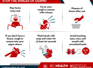 Coronavirus Information - Help stop the spread of germs!