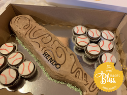 Baseball themed cupcake cake