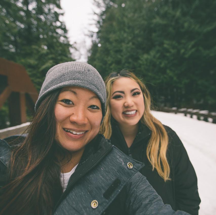 Low Aperture Selfie w/ the sister