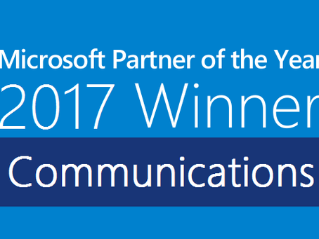 PAIS recognized as winner for 2017 Global Microsoft Communications Partner of the Year