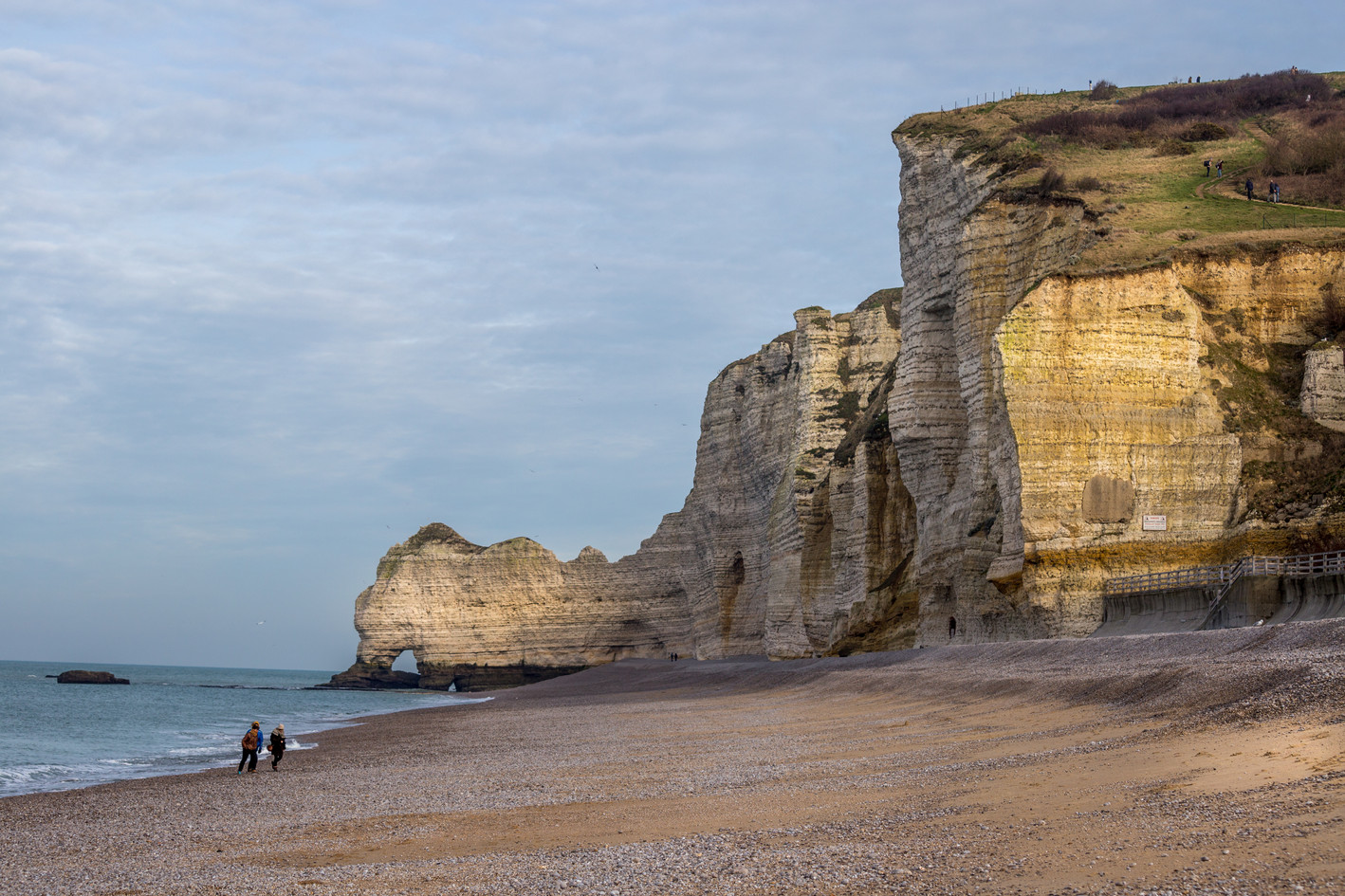 Beach of Etretat France