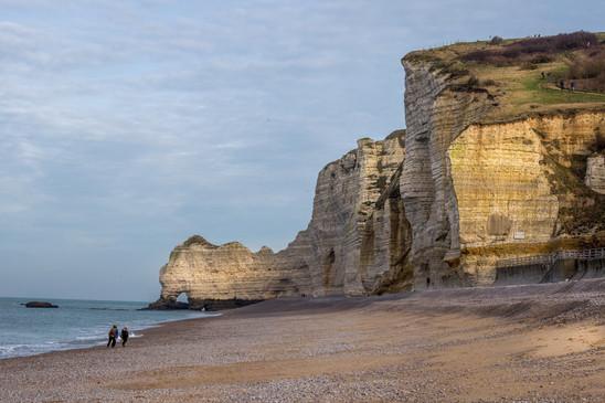 Beach of Etretat France