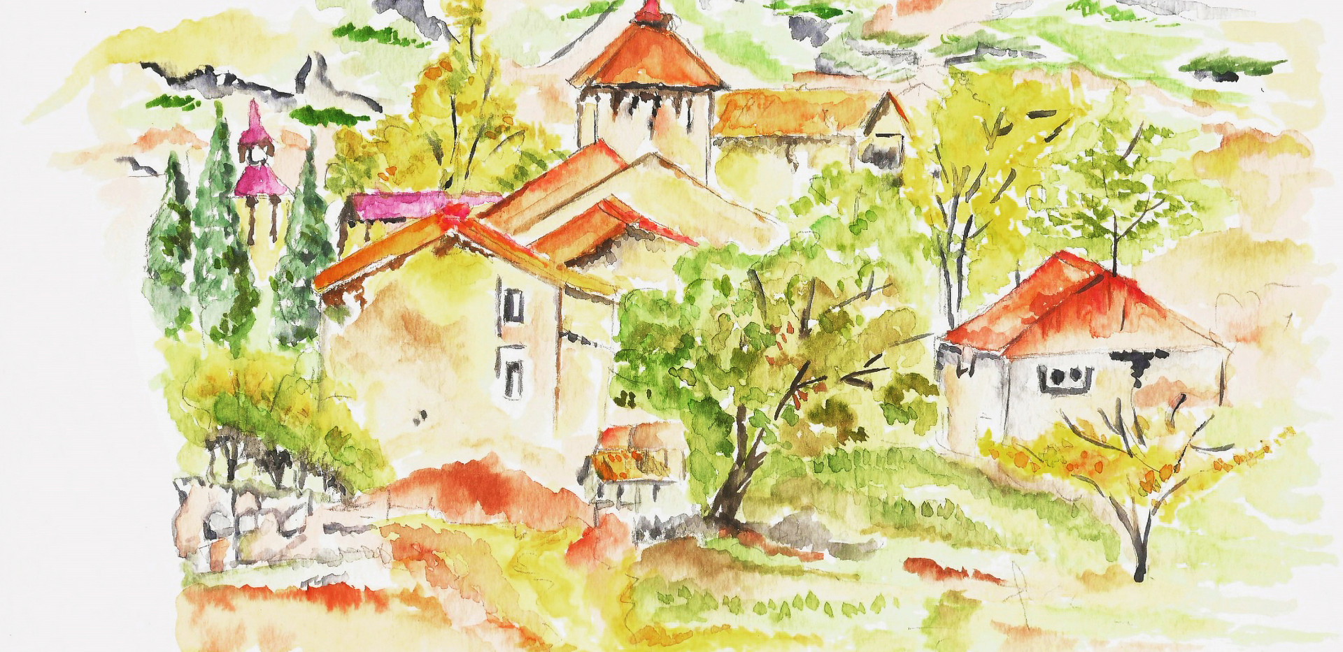 Countryside of Italy 10,96x 8,5 inches_r