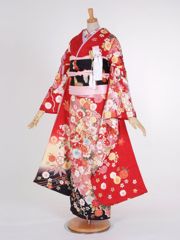 Hime Style Furisode Red