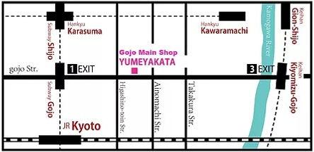 yumeyakata location kimono carte accès adresse transport
