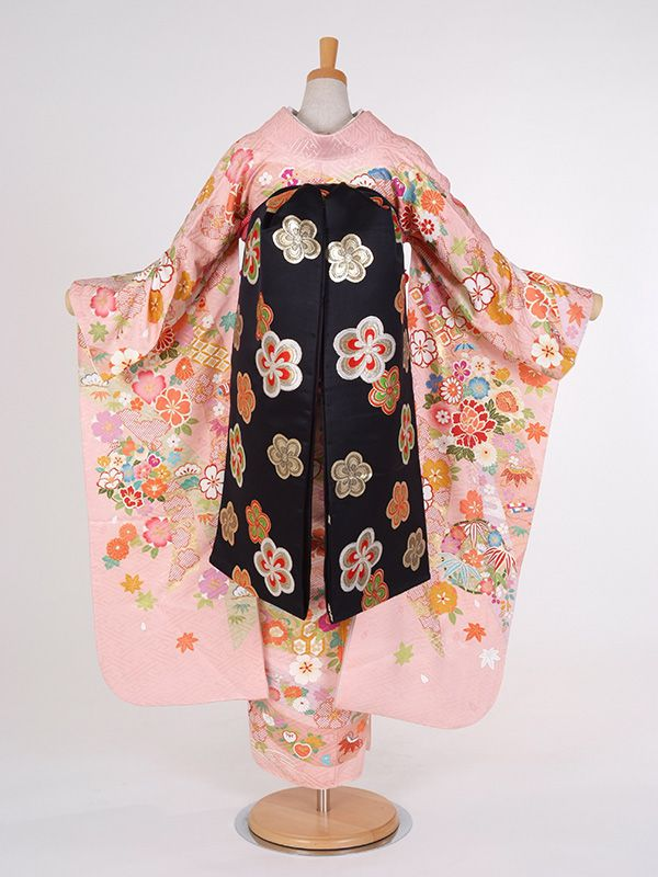 Hime Style Furisode Cute Pink