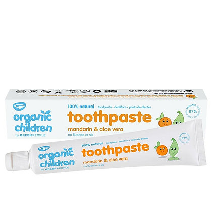 Green People Children's Toothpaste Mandarin & Aloe Vera 50ml