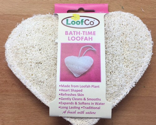Loofco Bath-time Heart Loofah