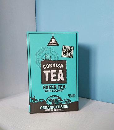 Cornish Tea - Green Tea & Coconut Fusion Tea Bags (15)
