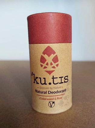 'Ku.tis Natural Deodorant - Cedarwood & Rose