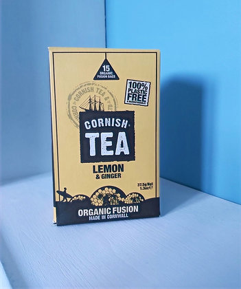 Cornish Tea - Lemon & Ginger Fusion Tea Bags (15)