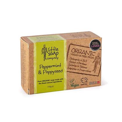 Little Soap Company - Organic Peppermint & Poppyseed Soap Bar 110g