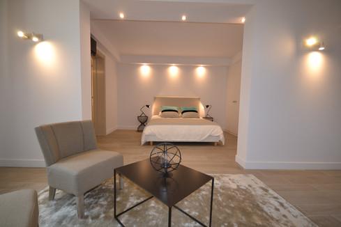 Suite Junior (lit en 160) avec coin salon & salle de bain - Rez de chaussée