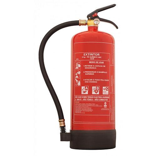 Extintor pó químico ABC 6 Kg