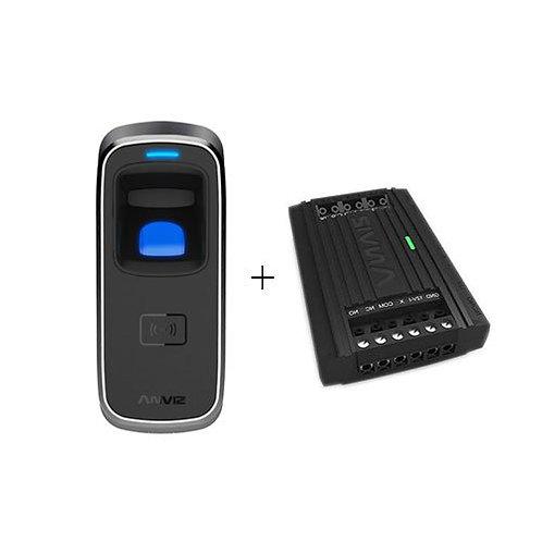 Controlo de portas leitor biométrico exterior por impressão digital ou cartãoom