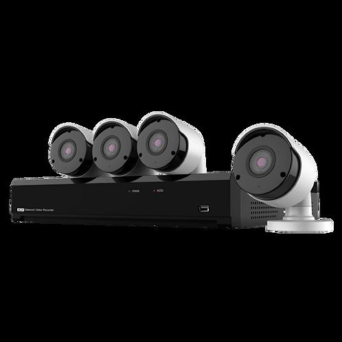 4 CAMARAS IP PARA EXTERIOR + GRAVADOR NVR KIT CCTV