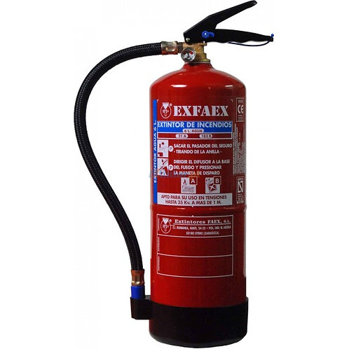 Extintor de água pulverizada + espuma 6 litros